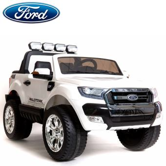 nouveau ford ranger cran lcd 2x12v voiture quad 4x4 lectrique enfant 2 places blanc pack luxe. Black Bedroom Furniture Sets. Home Design Ideas
