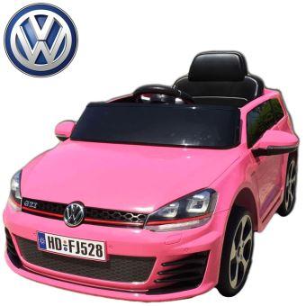 voiture quad lectrique enfant roues led golf gti rose 12 volts t l commande parentale pour. Black Bedroom Furniture Sets. Home Design Ideas