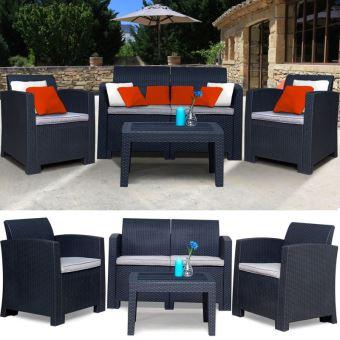 salon de jardin california 4 places confort r sine tress e. Black Bedroom Furniture Sets. Home Design Ideas