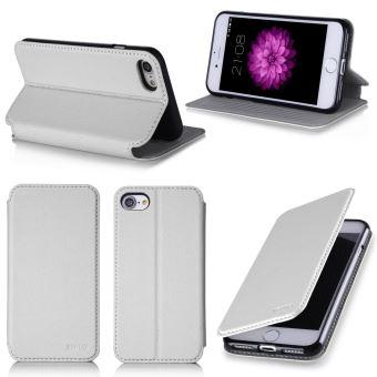 Etui luxe Apple iPhone 8 4,7 pouces Ultra Slim blanc Cuir Style avec stand  - Housse coque de protection iPhone 8 4,7 blanche 2017   2018 - Accessoires  ... c698bb060fd