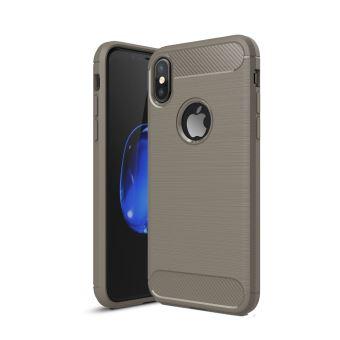 Coque de protection brossée haut de gamme Carbon Fiber tpu Apple iPhone X 5.8 pouces grise - Accessoires pochette XEPTIO : Exceptional case for ...