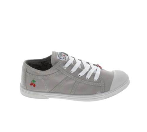 <strong>Chaussures</strong> basses toile le temps des cerises gris clair pointure 32