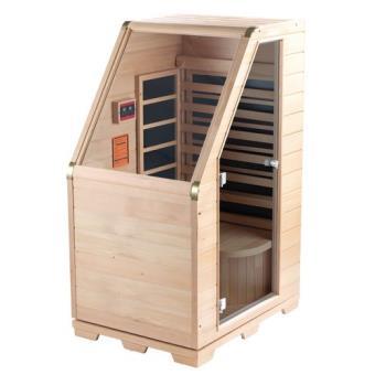 sauna infrarouge compact en bois 760 w saunas achat prix fnac. Black Bedroom Furniture Sets. Home Design Ideas
