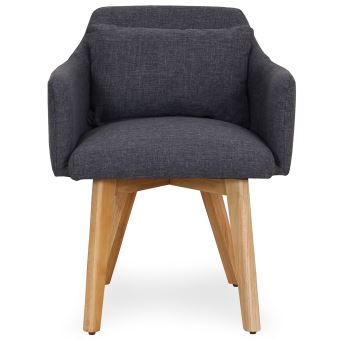 chaise fauteuil scandinave gybson tissu gris fonc achat prix fnac - Chaise Fauteuil Scandinave