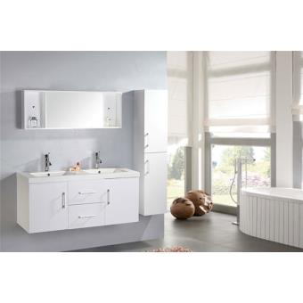 meuble salle de bain double vasque luxe beau meuble double vasque 120 cm mod le white malibu. Black Bedroom Furniture Sets. Home Design Ideas