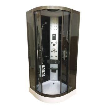 cabine de douche hydromassante 90 x 90 cm spa chrometherapie bain hydromassage mod le toronto. Black Bedroom Furniture Sets. Home Design Ideas