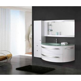 Meuble salle de bain blanc vasque luxe lavabo mod - Meuble salle de bain 70 cm largeur ...