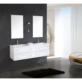 meuble salle de bain double vasque luxe beau meuble double vasque 150 cm white rome. Black Bedroom Furniture Sets. Home Design Ideas
