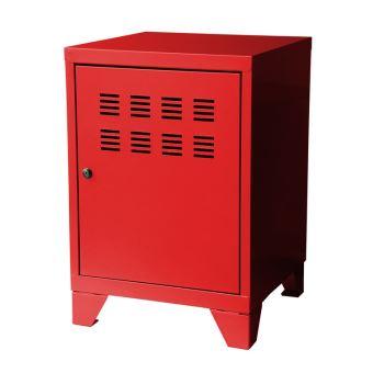 Caisson De Rangement Pm 1 Porte Avec Serrure 40x40x57 5cm Steel Rouge Achat Prix Fnac