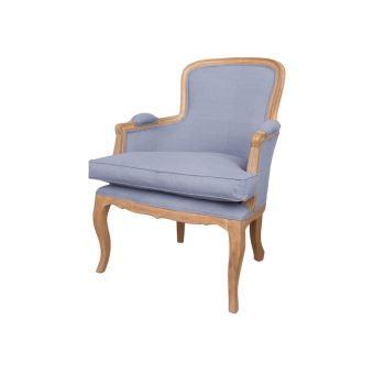 fauteuil cabriolet tissu pitement bois pauline gris achat prix fnac - Cabriolet Fauteuil