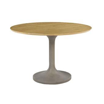 Table A Manger Ronde Chene Et Beton 110 Cm Iris Achat Prix Fnac