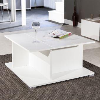 Table basse bois avec rangement bar Longueur 73.6cm Largeur 73.6cm ...