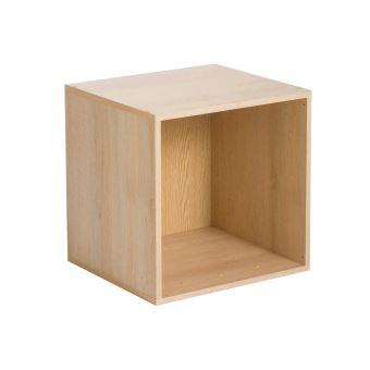 Etagère cube en bois L35cm personnalisable MULTIKAZ   Chêne   1
