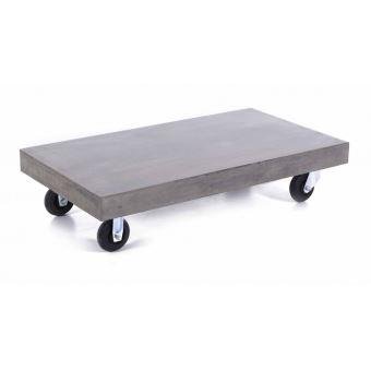 rectangulaire 120 béton basse en 60cm à Table cm Longueur HERMITAGE roulettes J3uKTlF15c
