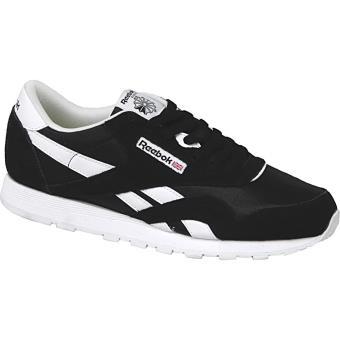 save off 683cf df09b REEBOK Classic Nylon Noir Blanc 36.5 Enfant - Chaussures et chaussons de  sport - Achat   prix   fnac