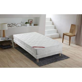 91 sur ensemble matelas mousse sommier bois massif 90x190 doux sommeil achat prix fnac. Black Bedroom Furniture Sets. Home Design Ideas