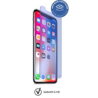 Film Anti Lumière Bleue iPhone X / XS Protection Verre trempé 9H+ Force Glass