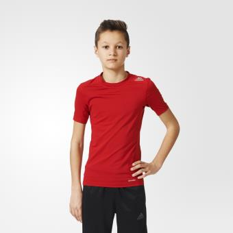 look for affordable price buying now Adidas Techfit Base rouge vif 15/16 ans T-shirt Enfant ...