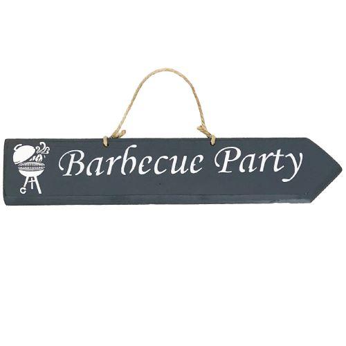 Plaque décorative en bois - Barbecue Party - ANTHRACITE