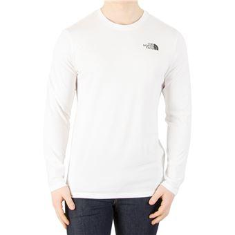 b16891e6ea132 The North Face Homme T-shirt facile à manches longues, Blanc - Hauts, T- shirts et débardeurs de sport - Achat   prix   fnac