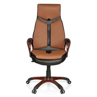 Chaise De Bureau Fauteuil Direction ERGO 100 Marron Noir Hjh OFFICE