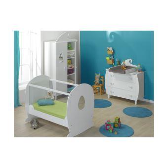 Chambre bébé Lutin lit Plexiglas Chambrekids Blanc - Lit pour enfant ...