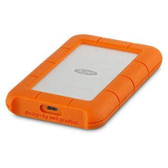 Disque dur portable LaCie Rugged 4 To USB-C Orange