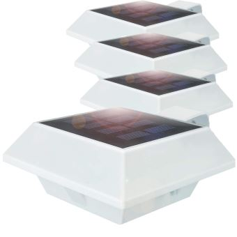 [4 Pack] 6SMD LEDs Lampe Solaire Jardin etanche sans fil Luminaire  Exterieur/Eclairage Exterieur/Luminaire mural