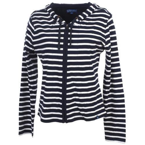 <strong>Vestes</strong> sweats zippés capuche elegance oceane aileron marineveste zip c 36256