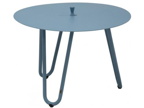 Table d appoint de jardin Ø 60 cm coloris corail