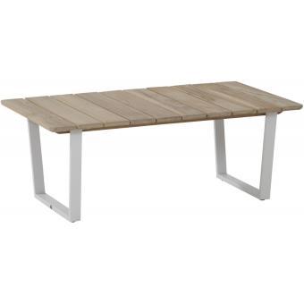 Table basse de jardin 120x70 cm en bois massif teck coloris ...