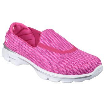 Skechers Go Walk 3 Noir Rose Femmes Silpon Chaussures