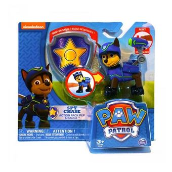 pat patrouille chien policier chase badge figurine paw patrol achat prix fnac. Black Bedroom Furniture Sets. Home Design Ideas