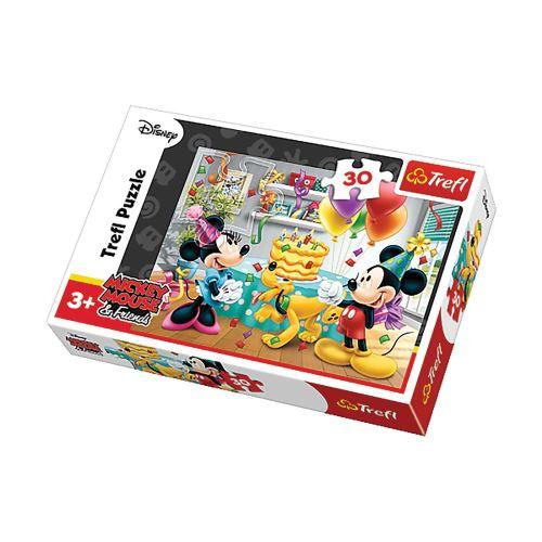 Puzzle Mickey Le gâteau - + 3 ans - 30 pièces