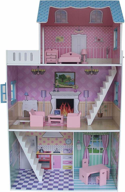 Liberty House Toys Maison de Ville Maison de poupée avec Meubles (Multicolore)