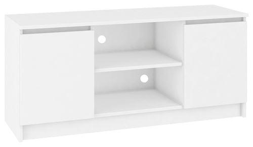 DUSK - Meuble bas TV contemporain salon/séjour 120x55x40 cm - 2 Blanc