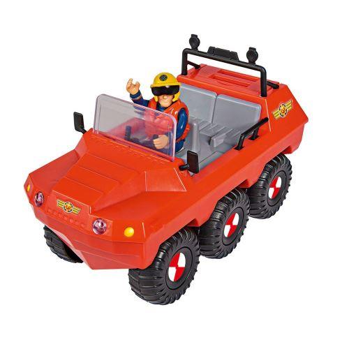 Simba Toys 109251051 - Le pompier Sam Véhicule Hydrus Amphibie avec 1 Figurine
