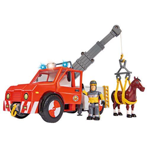 Pompier Sam Phoenix camion grue avec cheval