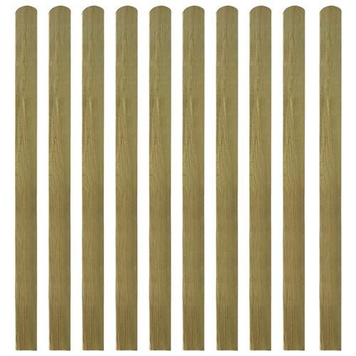 vidaXL 20 pcs Lattes imprégnées de clôture Bois FSC 140 cm