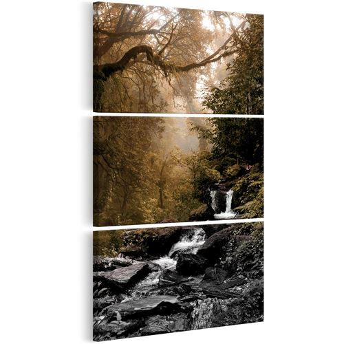 Tableau - Small Waterfall - Décoration, image, art | Paysages | Forêt | 60x120 cm |