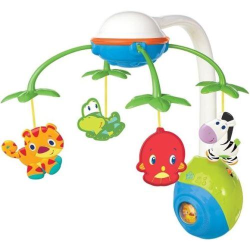 Mobile musical animaux safari 2 en 1 - jouet 1er bright stars - bebe eveil