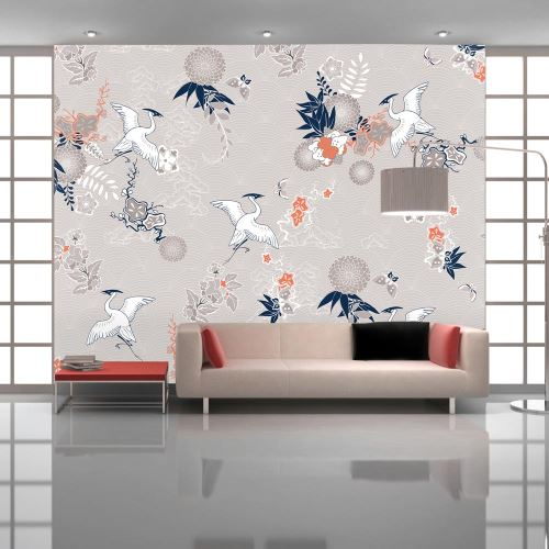 Papier peint - Wild herons - 150x105 - Orient -