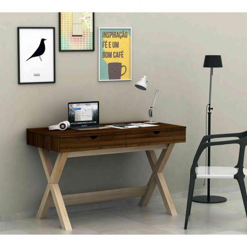 Bureau en bois avec 2 tiroirs - BU4022