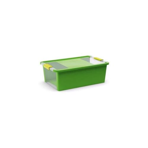 abm boîte de rangement bi box - 26 l - vert