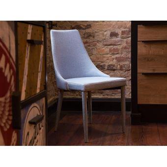 Chaise - Chaise de salle à manger - Bleu clair - Camino ...