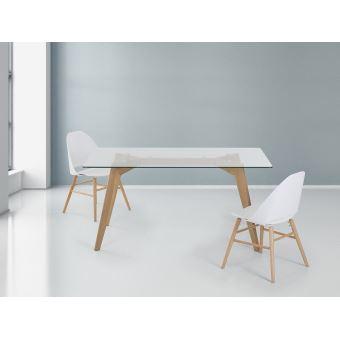 89 01 Sur Table De Salle A Manger Table En Verre 160x90 Cm