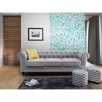 meilleur pas cher 17eda 6c7ee Canapé Chesterfield - couleur gris clair - canapé design - CHESTERFIELD