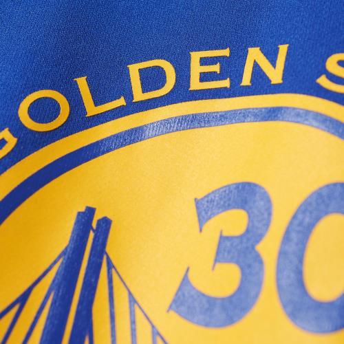 Adidas NBA Golden State Warriors #30 Stephen Curry Bleu S