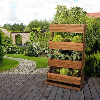 jardini re pour balcon hors sol sur lev e cube 4 bois de. Black Bedroom Furniture Sets. Home Design Ideas