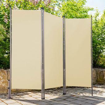paravent ext rieur pliable l170 x h170 cm beige. Black Bedroom Furniture Sets. Home Design Ideas
